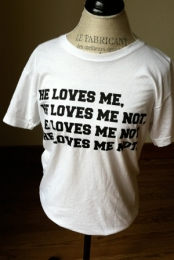 He Loves Me Not Tee (White)