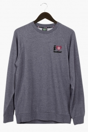 I Love Boobies! Men's Crew - Grey