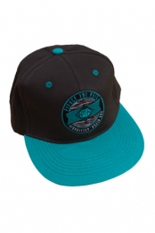 PTV Zebra Snapback (Charcoal And Teal)
