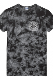 Badge Tie Dye Tee (Black)