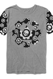 Custom Skull Cog Tee (Heather Grey)