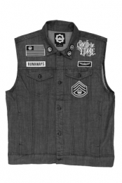 Limited Signed Custom Denim Runaways Vest