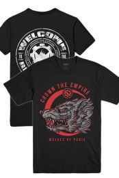 Outbreak Tee (Black) + Wolves Of Paris Tee (Black)