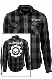 Runaways Flannel Shirt (Black And Grey)