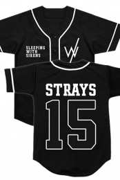Team Strays Baseball Jersey (Black)