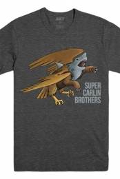 Grizzly Eagle Shark Tee (Heather Charcoal) - Super Carlin Brothers