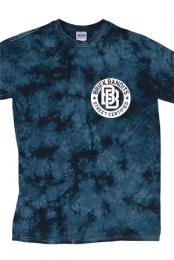 Wheel Tie Dye Tee (Navy Crystal) - Brick Bandits