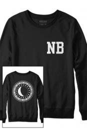 Night Bass Varsity Crewneck Sweatshirt (Black)