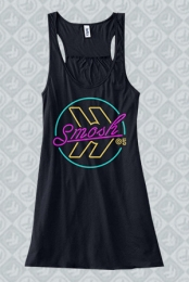 Neon Racerback Girls Tank (Black)