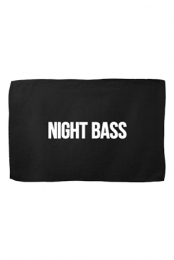 Night Bass 11x18 Rally Towel (Black)