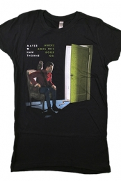 Where Does This Door Go Girls Tee (Black)