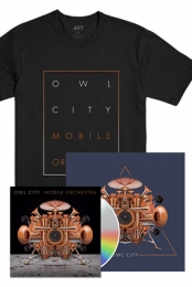 Mobile Orchestra CD + Box Tee + 12x12 Signed Navy Triangle Poster