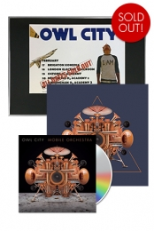 Mobile Orchestra CD + UK Tour Plaque + 12x12 Signed Navy Triangle Poster