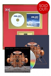Mobile Orchestra CD + Ocean Eyes Gold UK Plaque + 12x12 Signed Navy Triangle Poster