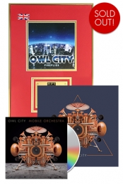 Mobile Orchestra CD + Fireflies Gold UK Plaque + 12x12 Signed Navy Triangle Poster