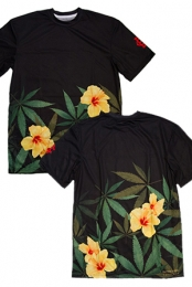 Burning Artist Floral Tee (Black)