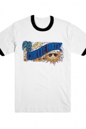 Summer Swizzle Tee (White/Blue)
