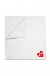 MH Logo Pocket Square (White)
