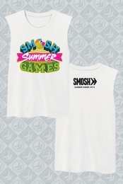Smosh Summer Games Sleeveless Tee (White)