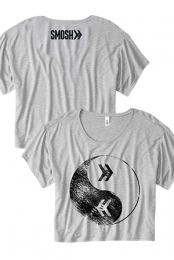 Yin Yang Flowy Girls Tee (Heather Grey)