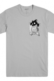 Imp Pocket Tee (Light Grey) - The Escapist