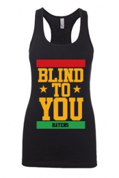 Blind To You Girls Racerback Tank (Black)