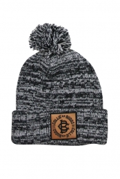 Snow Pom Beanie (Black/White)