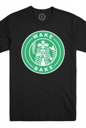 Wake and Bake Tee (Black) + Instant Download of Wake and Bake