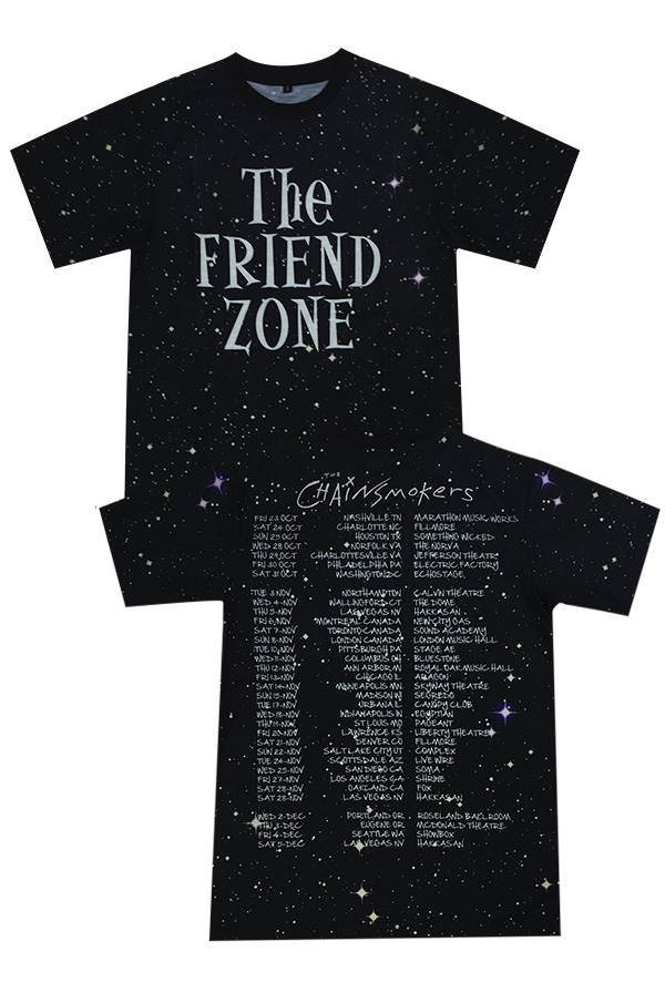 The Friend Zone Tour Tee T Shirt The Chainsmokers T