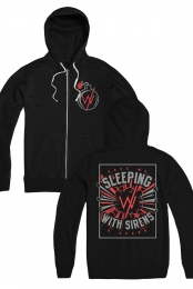 Bomb Zip Up Hoodie (Black)